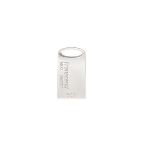 TRANSCEND USB Flash Disk JetFlash®720S, 8GB, USB 3.1, Silver (R/W 110/25 MB/s) MLC solution