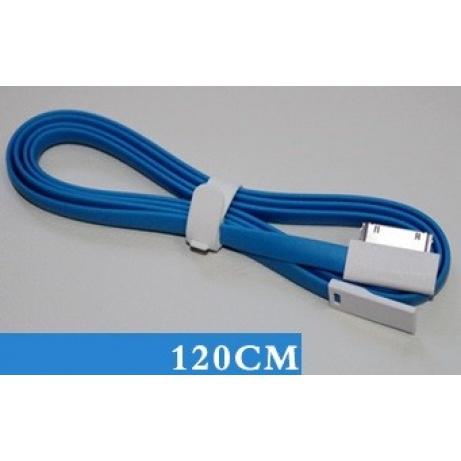 REMAX datový kabel pro iPhone 4/4S, iPad, mini, 1,2m dlouhý, modrý