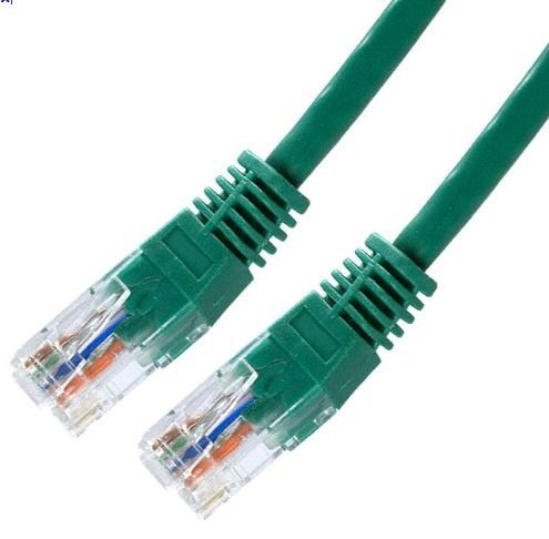 Patch kabel Cat5E, UTP - 1m, zelený