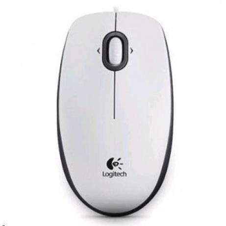 Logitech Mouse B100, white