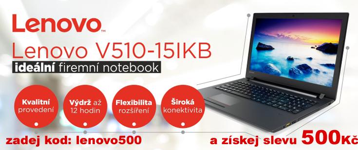 "LENOVO V510-15IKB černý 15.6"" IPS 1920x1080mat, i3-7100U@2.4GHz,4GB,256SSD,HD620,VGA,HDMI,DVD,3xUSB,6c(4+2),W10H"